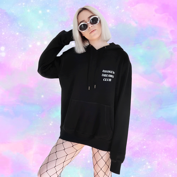 Light Reflective Broken Dreams Club Aesthetic Hoodie In 2020 Aesthetic Hoodie Trendy Outfits Girl Outfits
