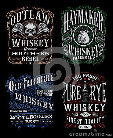 cf56dae4c Vintage Whiskey Label T-shirt Graphic Set | Illustrations | Whiskey ...
