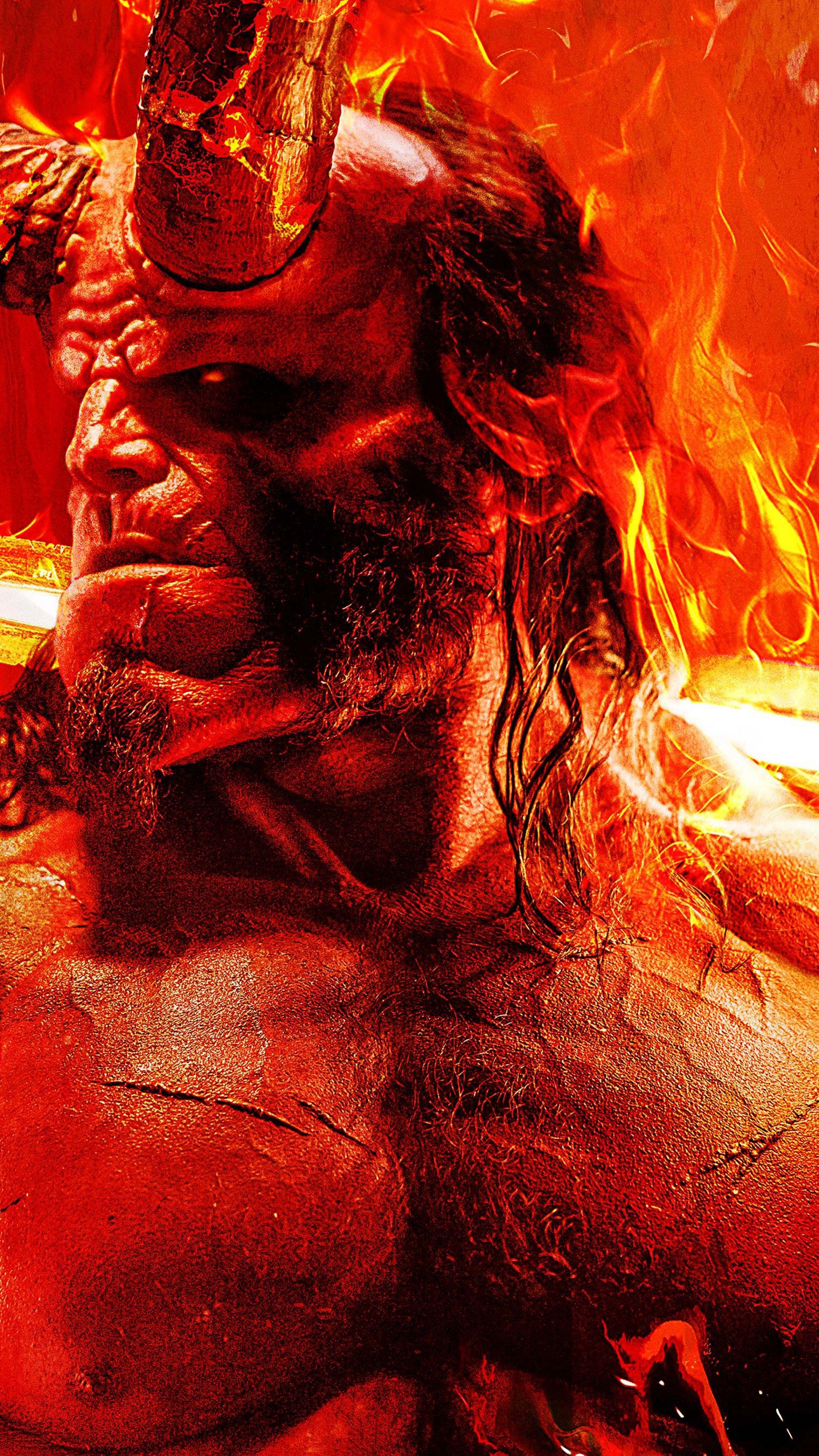 Hellboy Http Www Wallpaperback Net Movies Hellboy Html 5k David Harbour Poster Hellboy Movie Hellboy Wallpaper Movie Wallpapers