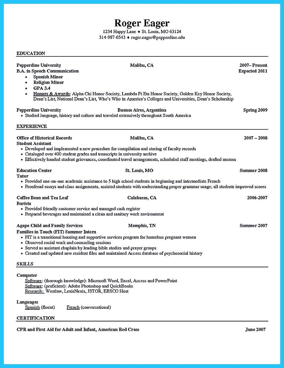 Nice  Sophisticated Barista Resume Sample That Leads To Barista