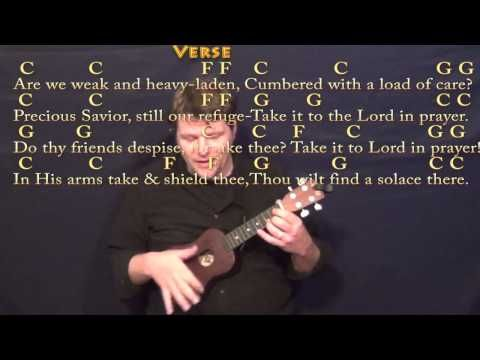 What A Friend We Have In Jesus Ukulele Cover Lesson In C With