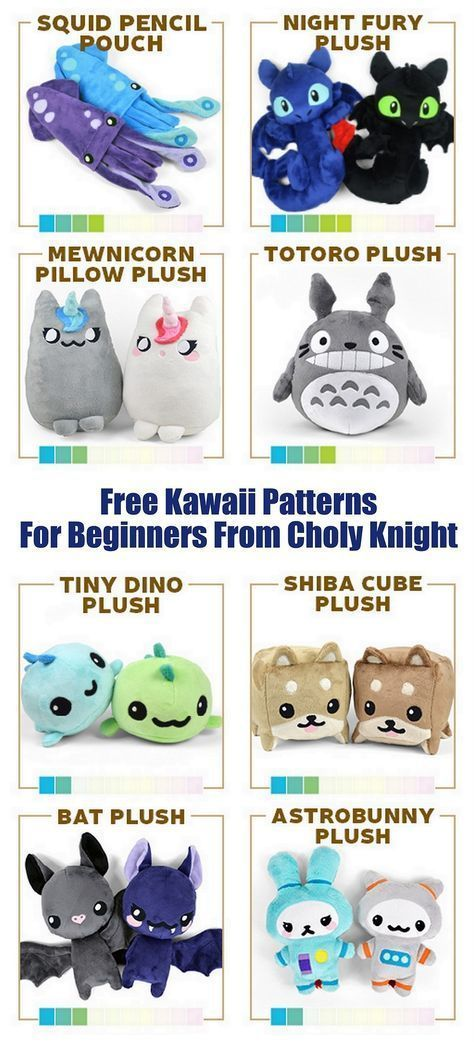 DIY Kawaii Free Patterns for BeginnersFor more Kawaii DIYs on...  DIY Kawaii Free Patterns for Be