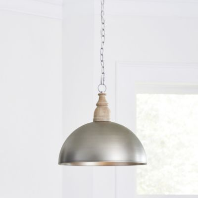 Need new lighting design? See the Turner Wood & Metal Dome Pendant at Ballard Designs online and love the bright new rooms in your life!