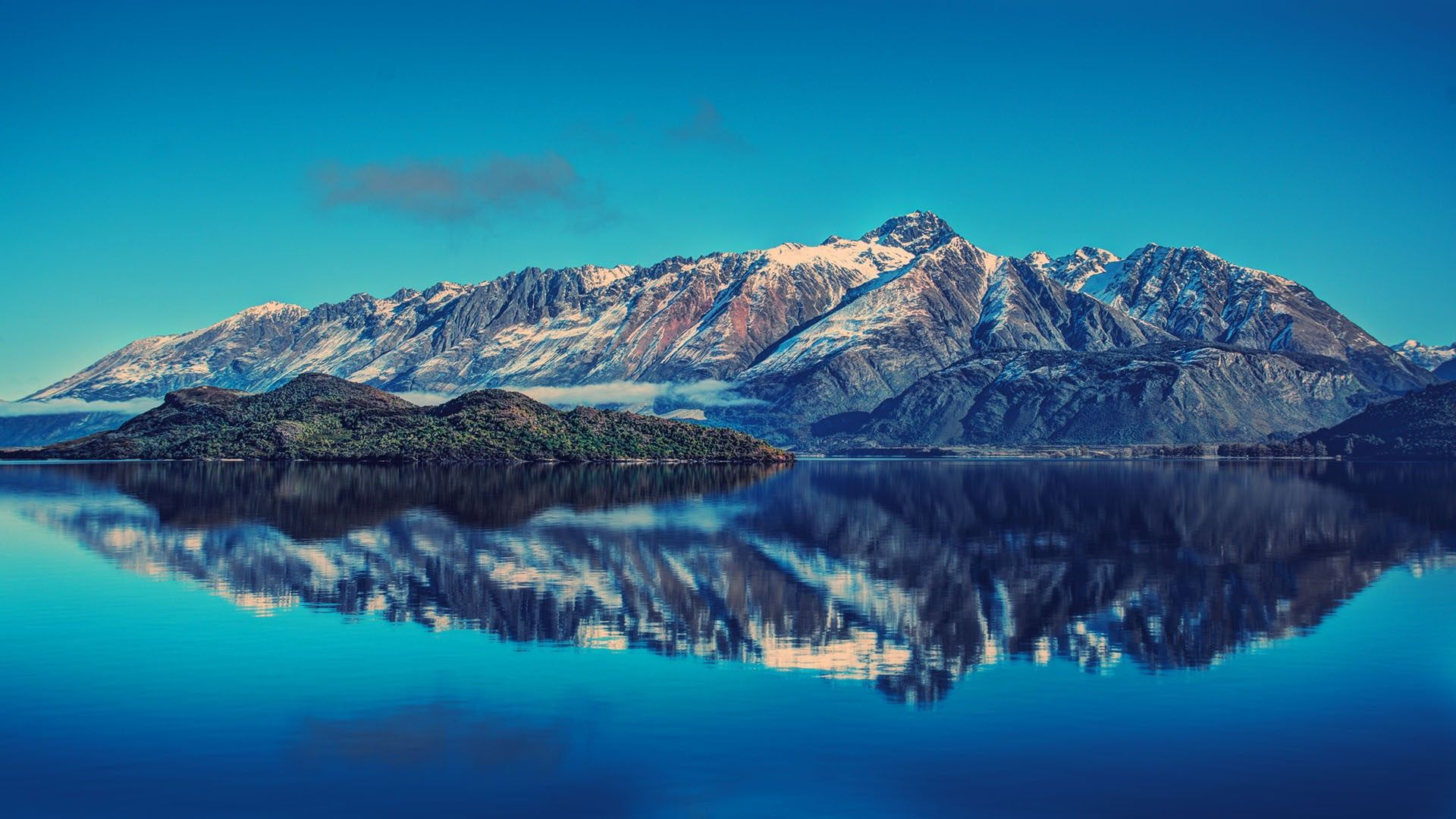 Mountain Ranges And Body Of Water Selective Focus Photography Of Island Landscape Mountains Lake Water Refle New Zealand Mountains Scenic Beautiful Lakes