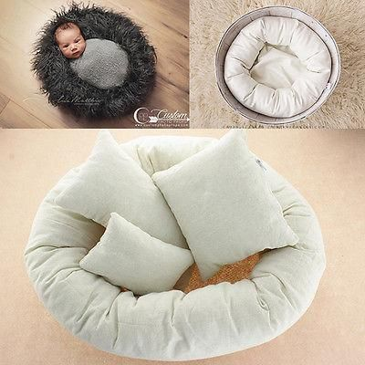 4pcs newborn photography props round shape pillows