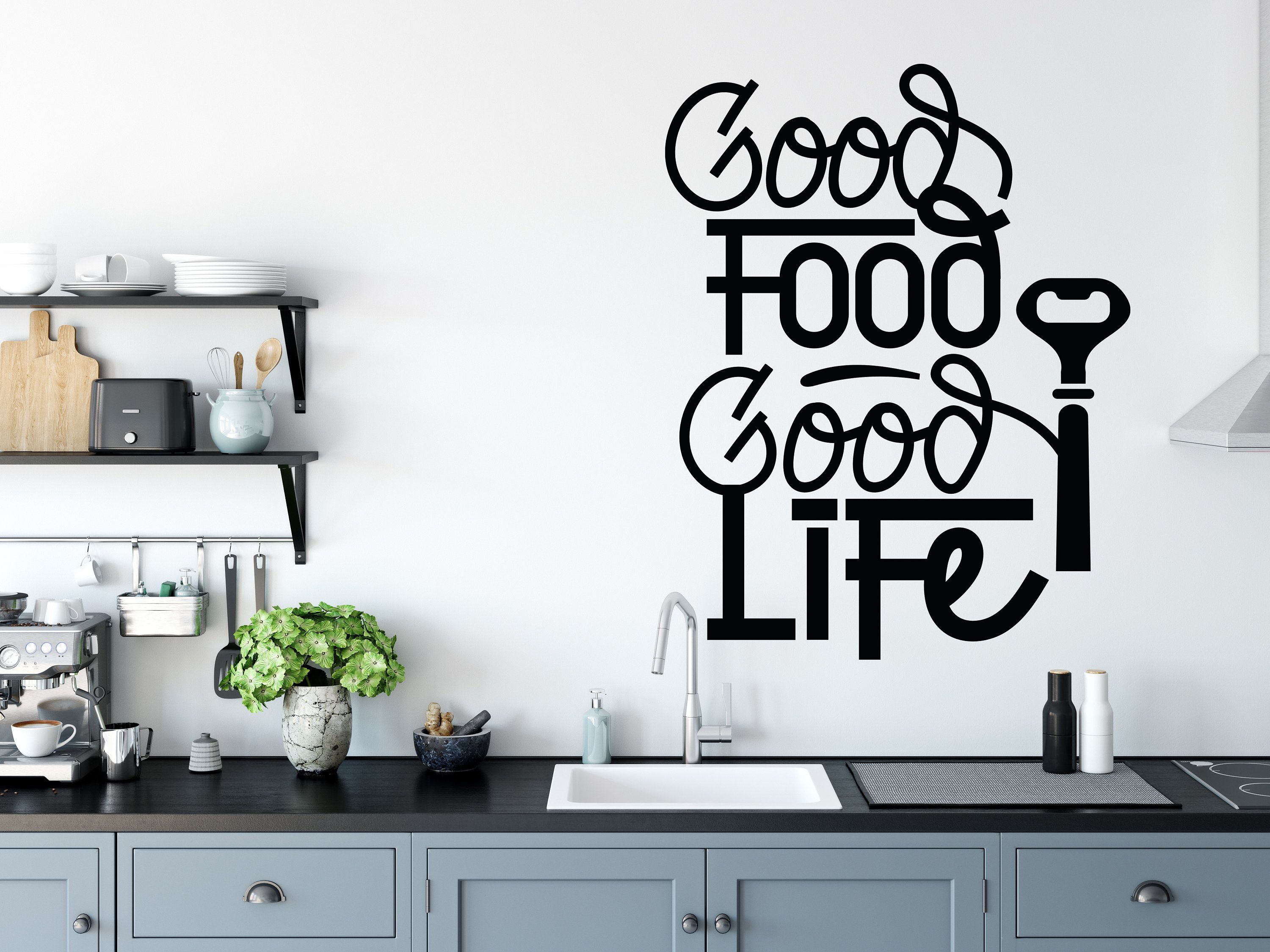Kitchen Wall Decal Cooking Food Lover Love Etsy Decals Stickers Baby Animal Prints
