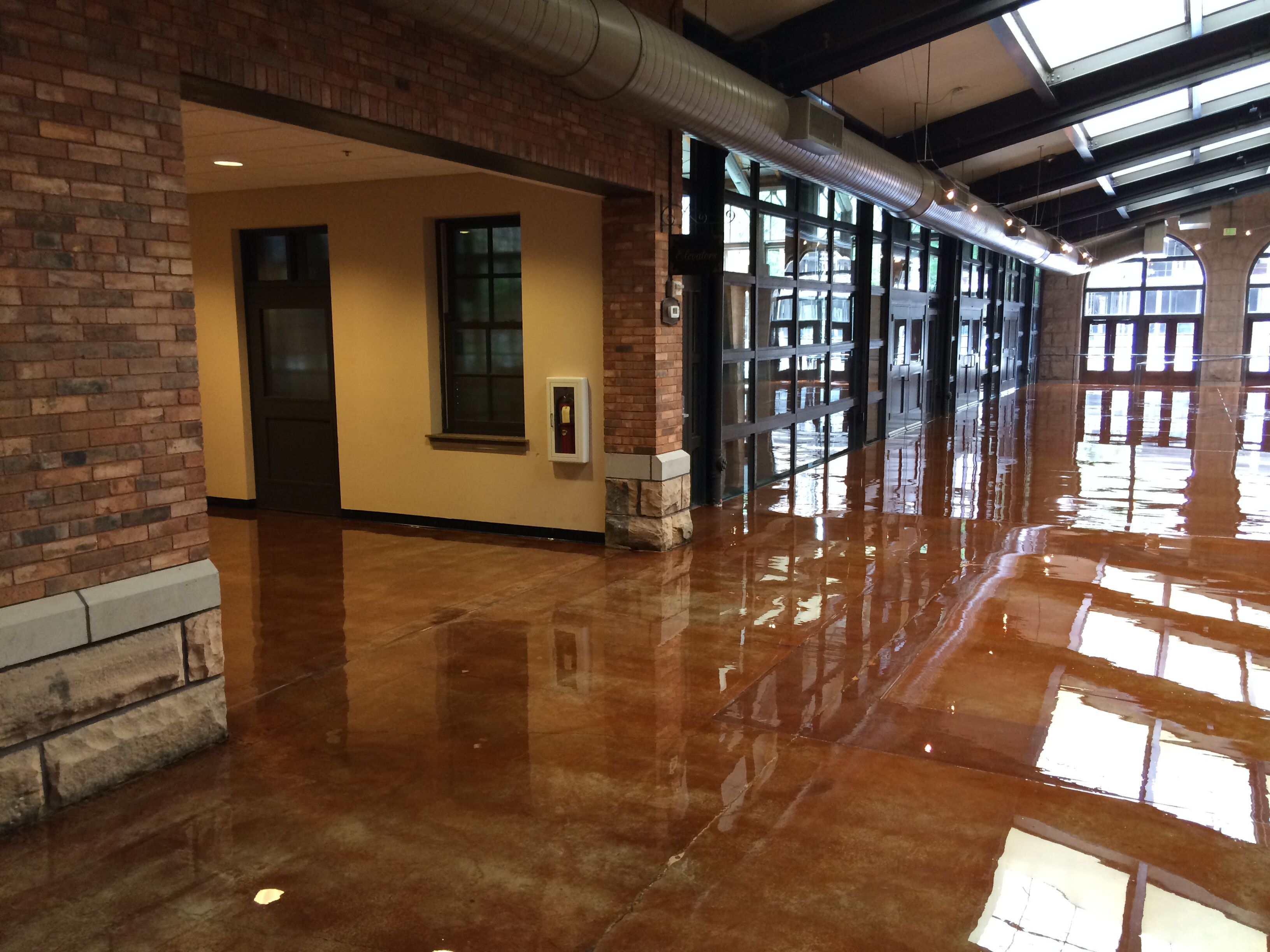 how to clean interior concrete floors