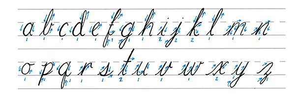 cursive calligraphy   lowercase alphabet from design.tutplus.