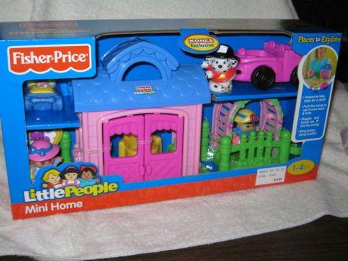 Fisher Price Little People Mini Home Pink Kohls Set House