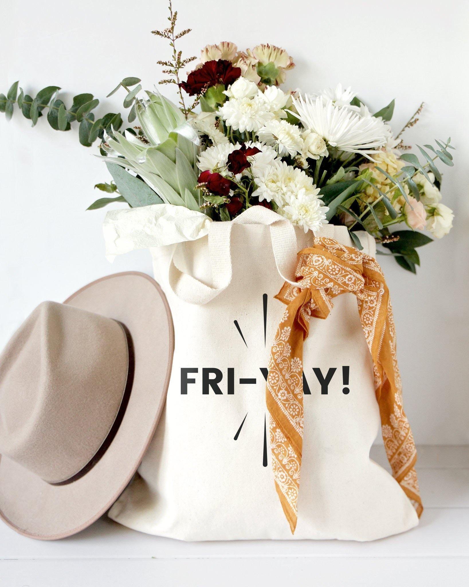 Friyay Weekend Cotton Canvas Einkaufstasche