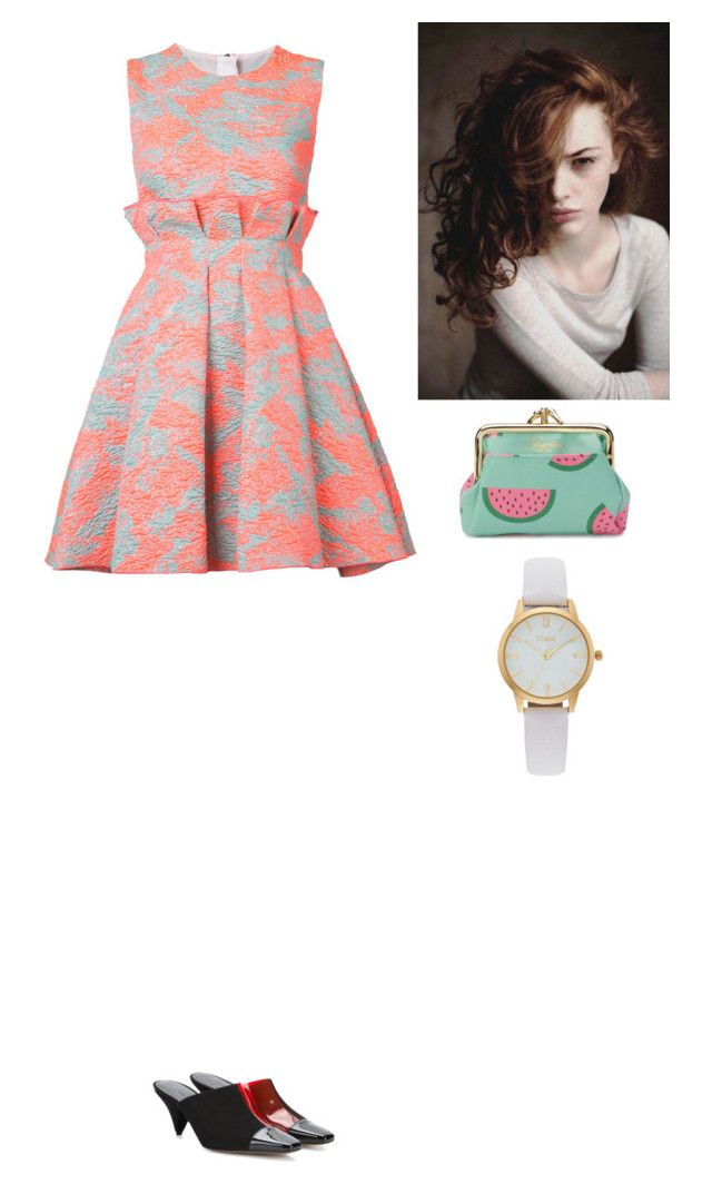 """Untitled #366"" by amory-eyre ❤ liked on Polyvore featuring MSGM, Buxton, Vivani and Neous"