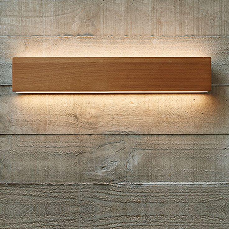 The Beacon Lighting Ledlux Tate 600mm 1000 Lumen Led Dimmable Wall Bracket In Teak Wall Brackets Dimmable Led Beacon Lighting