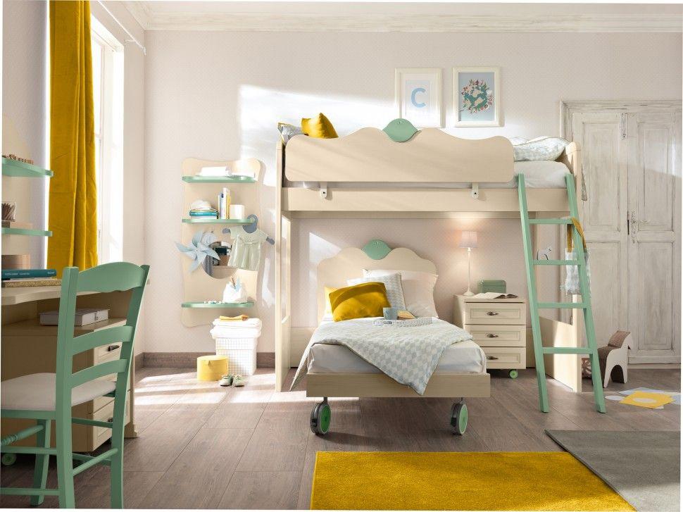 Design Camerette ~ Camerette arcadia letto in magnolia e giada colombini