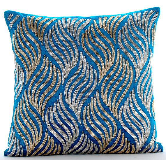 16x16 Decorative Turquoise Blue Sofa Pillow Etsy Red Decorative Pillows Decorative Throw Pillow Covers Pillow Covers