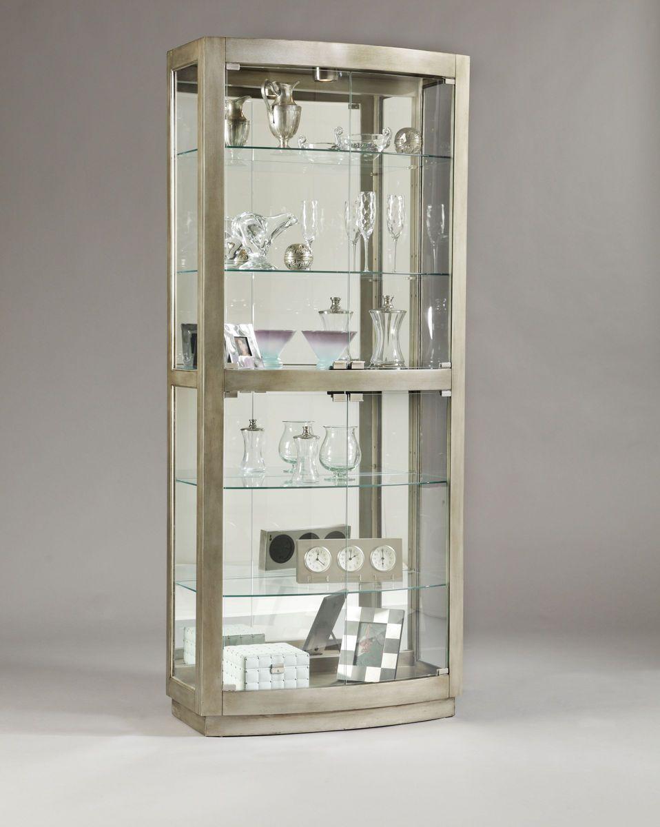 Glass Door Cabinet Pulaski Platinum Glass Door Curio 21396 Homelementcom Curio