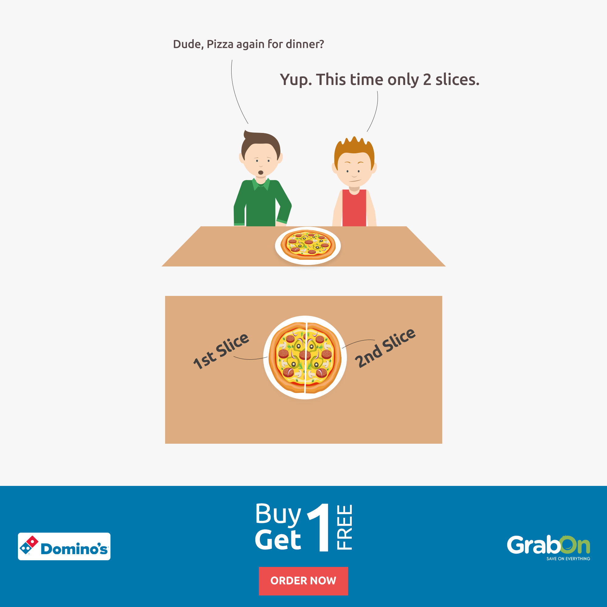 Always Hungry For Pizza? Now Buy One and Get One FREE