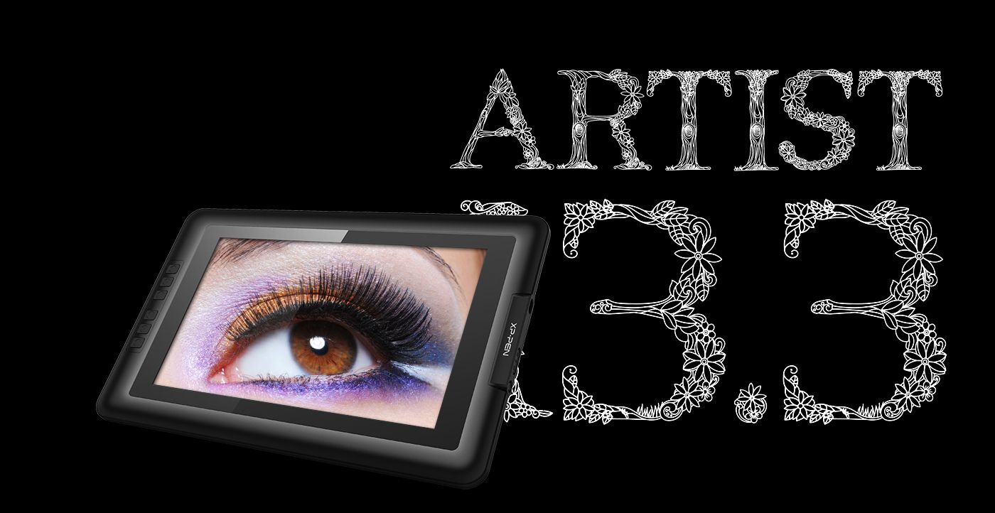 Artist display 133 xppen with images graphics