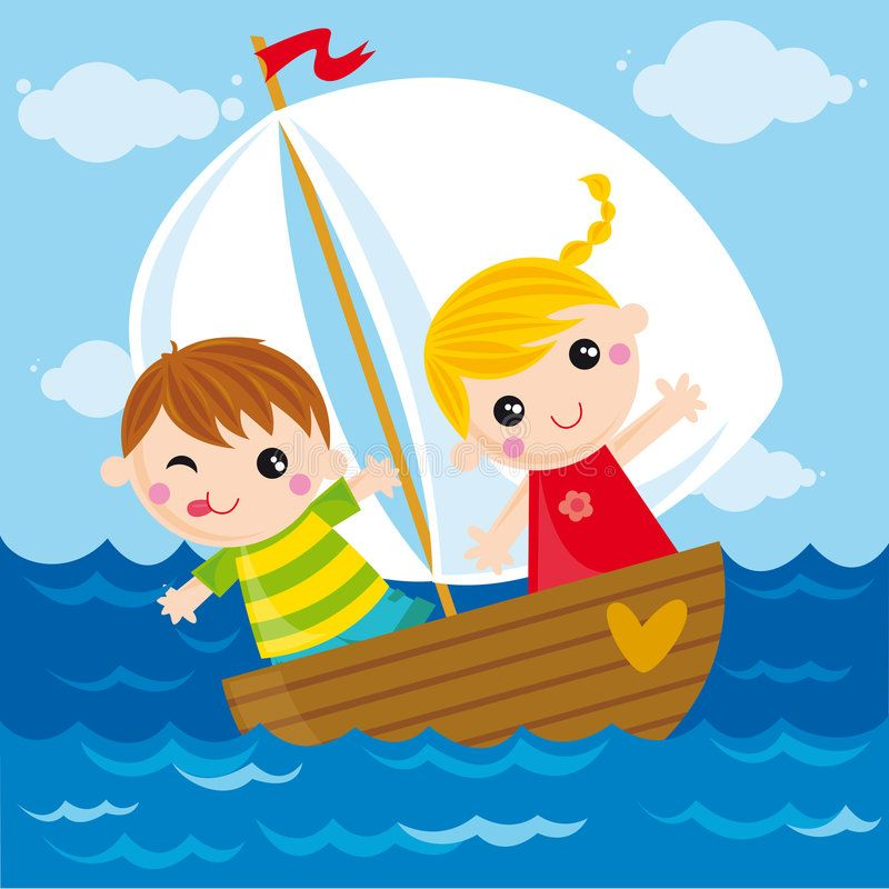 Two Boats Clip Art