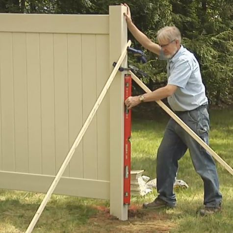 How To Install A Vinyl Privacy Fence Layout Post Holes Fence