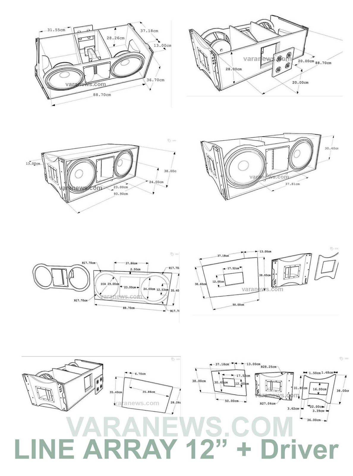 Skema Box Line Array 12 inch + Tweeter | Speaker design in 2019