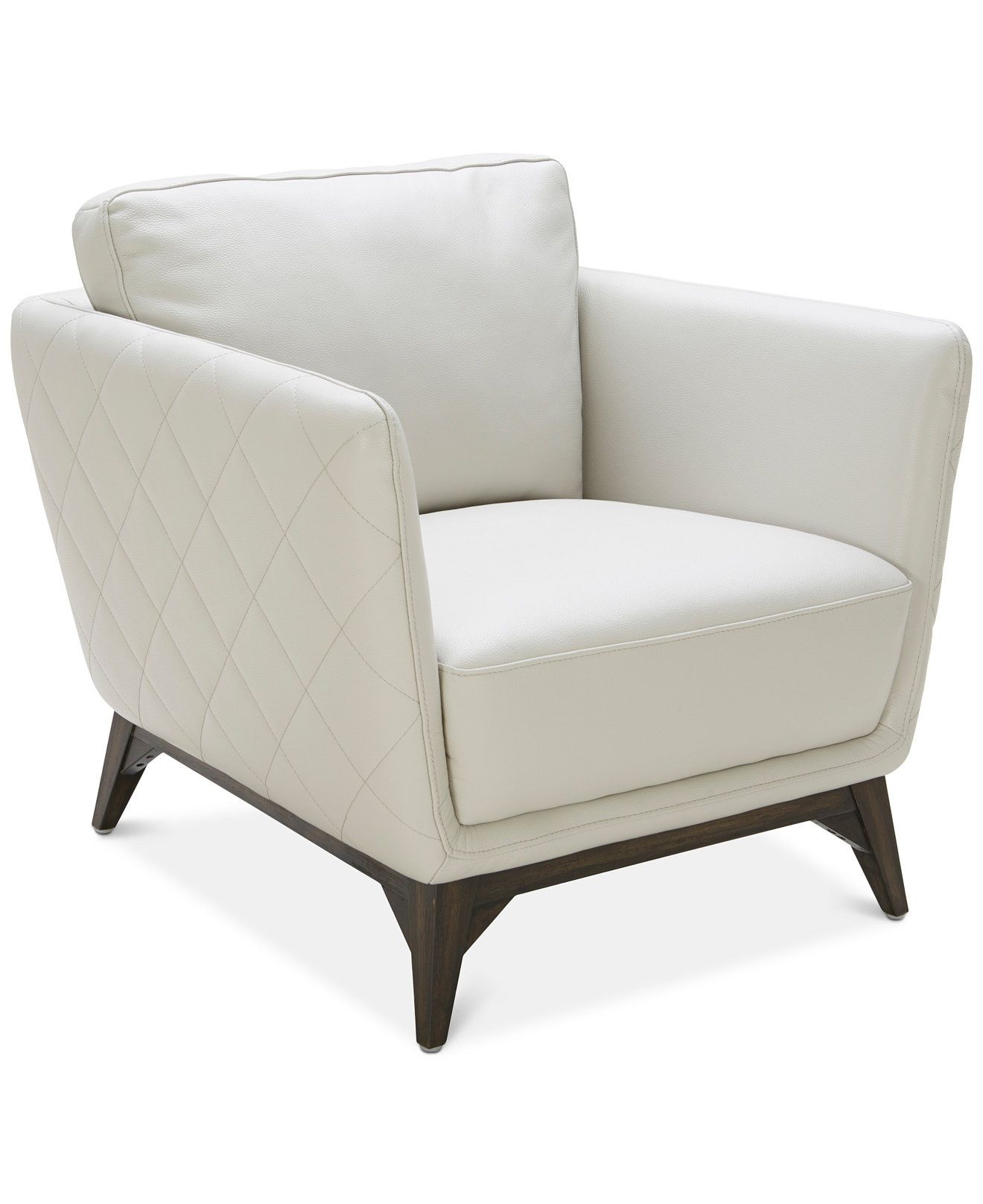 Kourtney Quilted Side Leather Chair Furniture