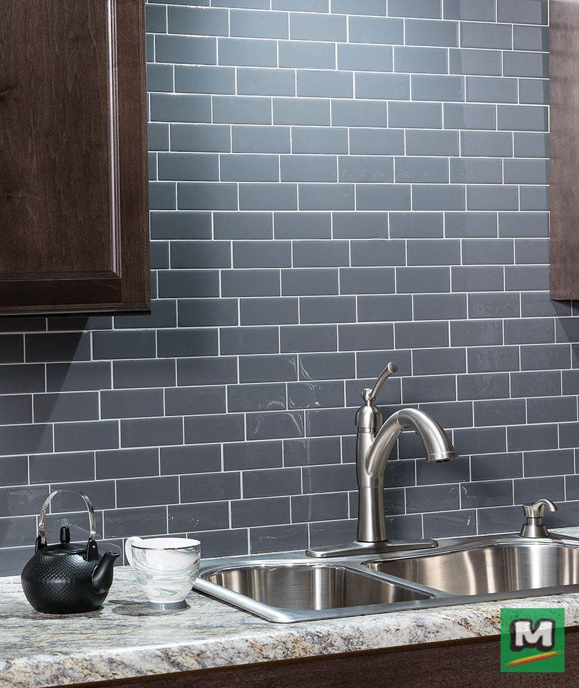 Tack Tile Peel & Stick vinyl backsplash tiles are an easy