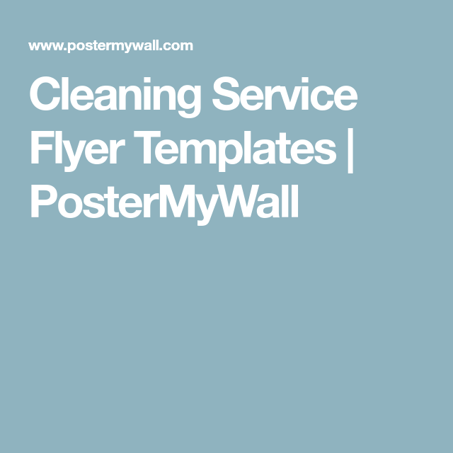 Cleaning Service Flyer Templates  Postermywall  Housecleaning