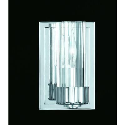 Illumine - 1 Light Wall Sconce Chrome Finish Clear Fluted Glass - CLI-TR381001 - Home Depot Canada