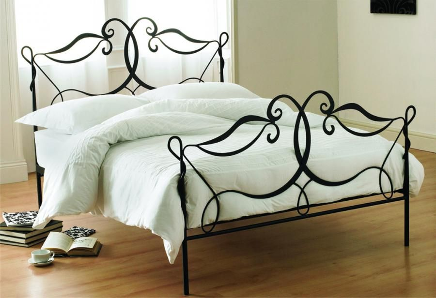 Rod Iron Bed Frames All White Walls Bedding And Dark Wood Floors Cannot Forget What A Pretty Guest Room Idea One Day