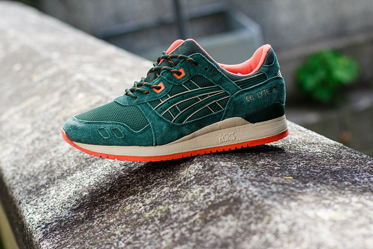 asics tiger mens gel lyte iii outdoor pack trainers dark green