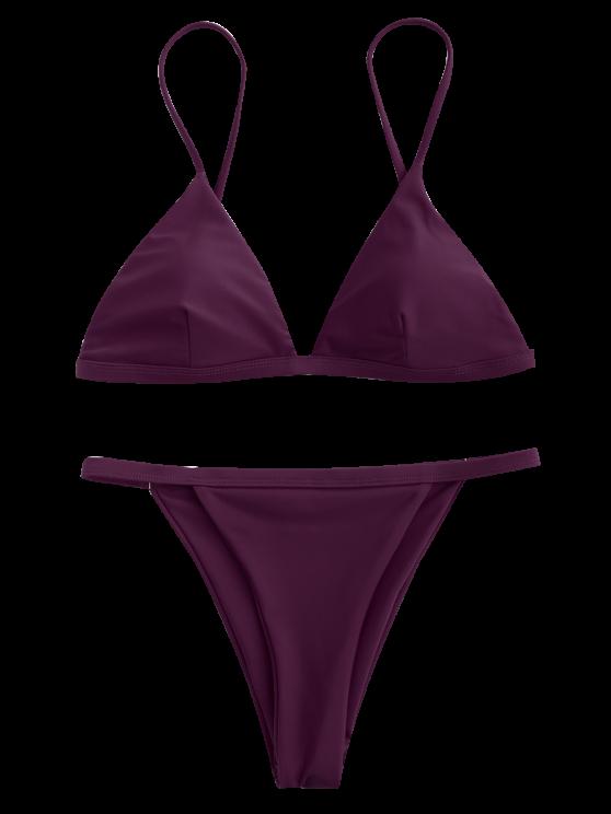 1b9416adaedc Low Waisted Spaghetti Strap Bikini Swimwear