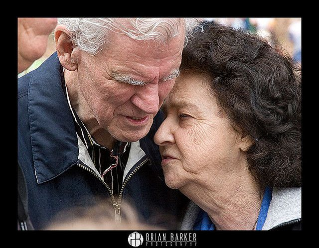 Published front page image of the cougar Cry newspaper of Doc and Rosalee Watson in a tender moment.