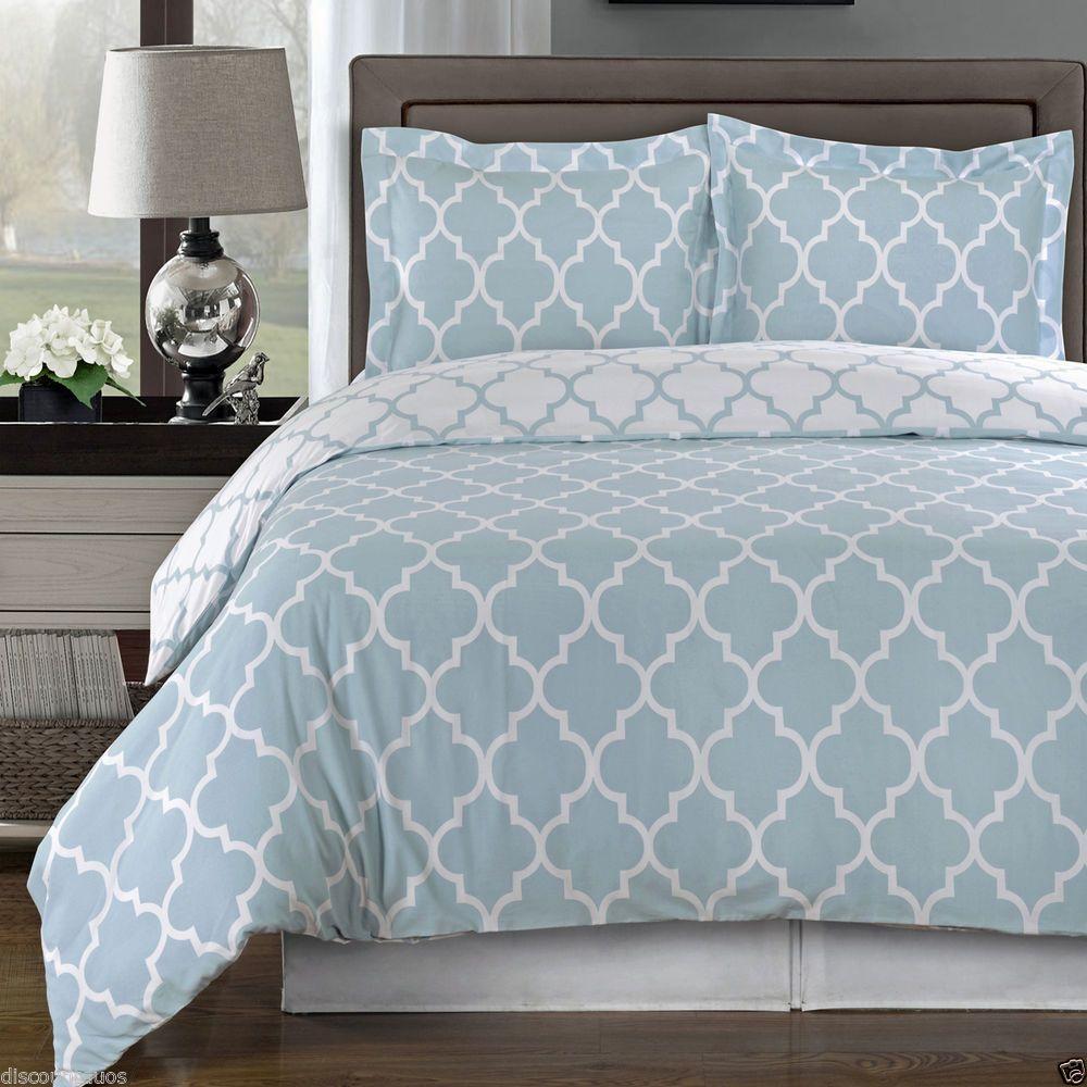 Meridian Light Blue Duvet Cover Set   100% Cotton ALL SIZES