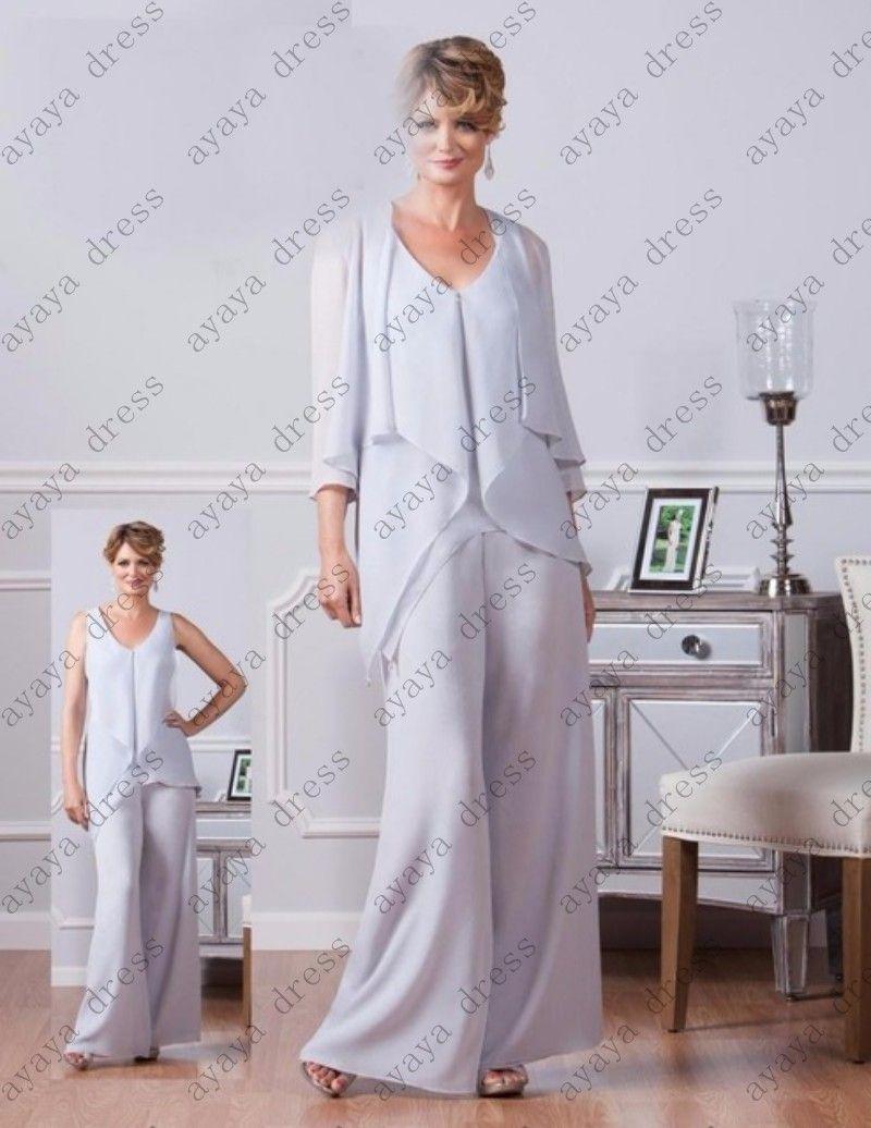 Elegant wedding pant suits - Click To Buy Wejanedress Elegant Wedding Pant Suits With Jacket 2017 Mother