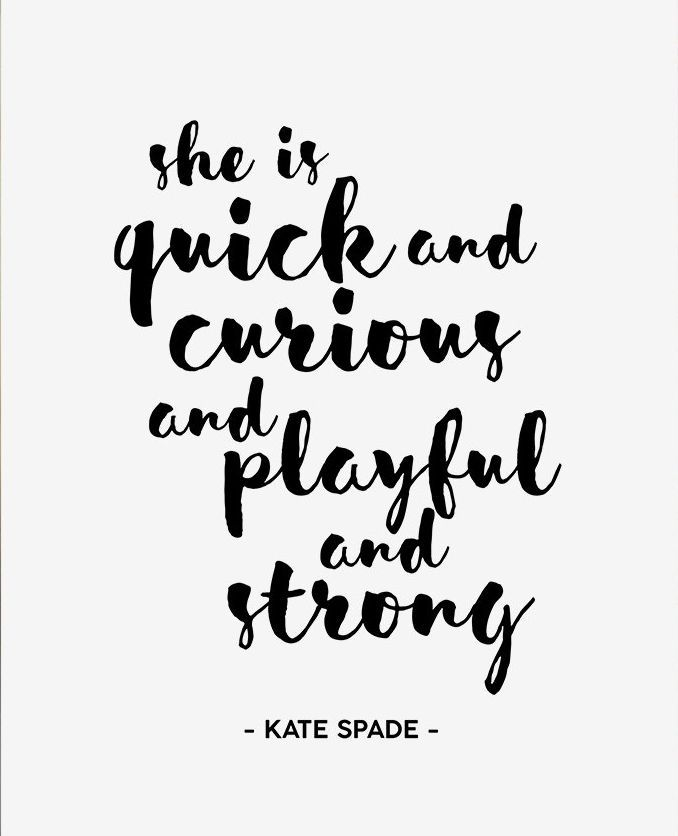 Kate Spade Quotes Simple Printable Kate Spade Quote Curious Quote Playful Quote