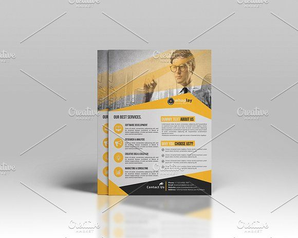 corporate flyer template by cristal pioneer on creativemarket