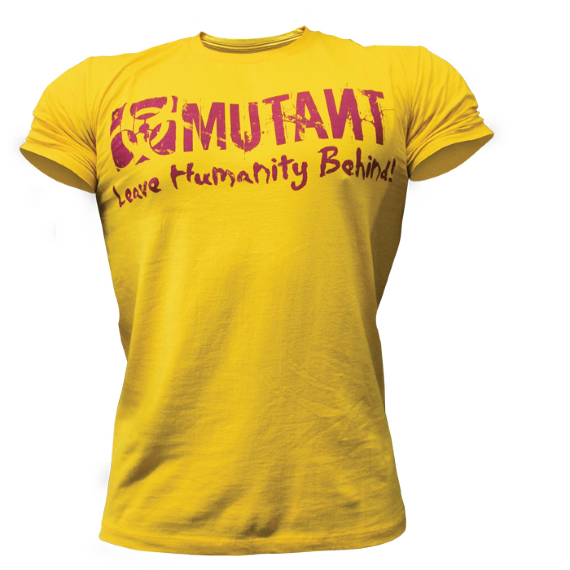 mutant tshirt yellow logo mutant supplements official