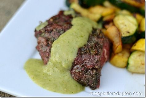 Avocado Steak Sauce--this recipe speaks to my soul