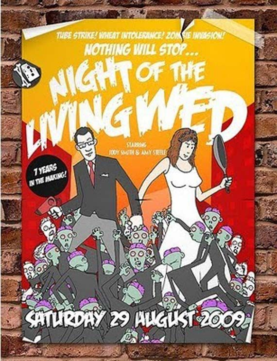 halloween type weddings zombie theme wedding invitations inspiration spooky halloween wedding - Zombie Halloween Invitations