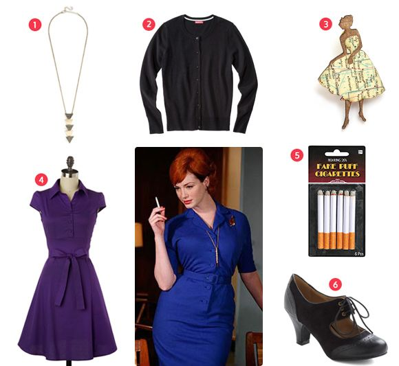 Easy Halloween Costumes - MadMen To Live Beautifully Halloweeney - quick halloween costumes ideas