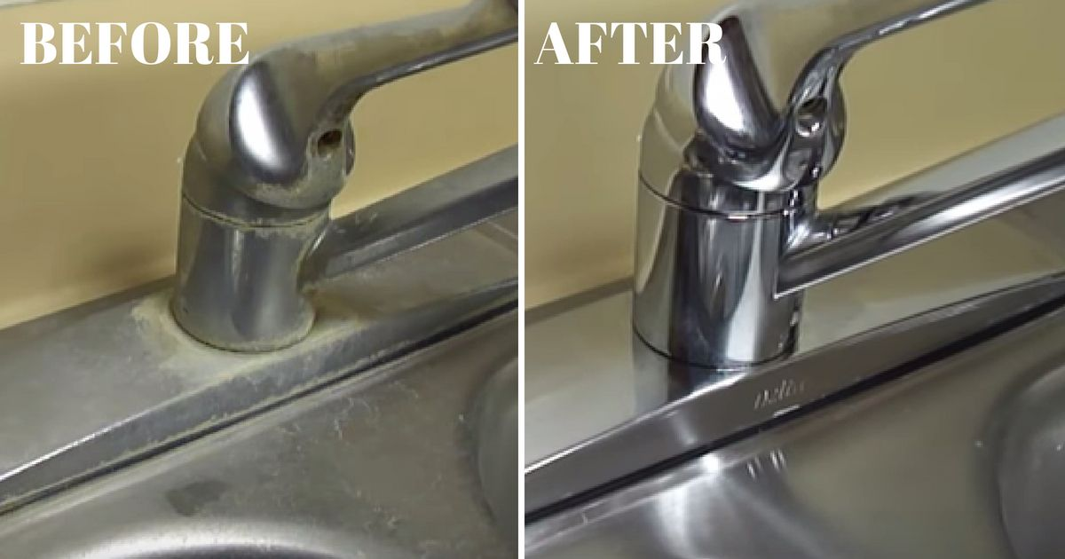 Is Your Sink Or Faucet Covered In Hard Water Stains? Here