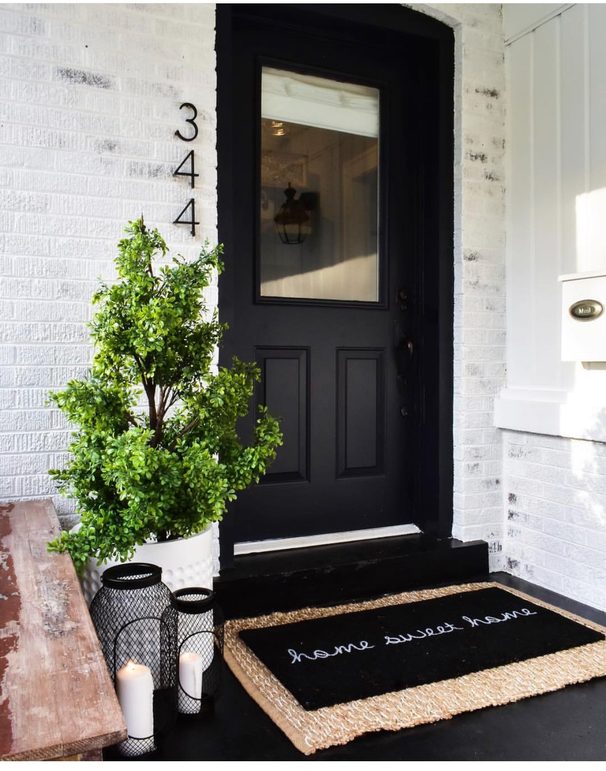Layered welcome mats and entry styling home in 2019