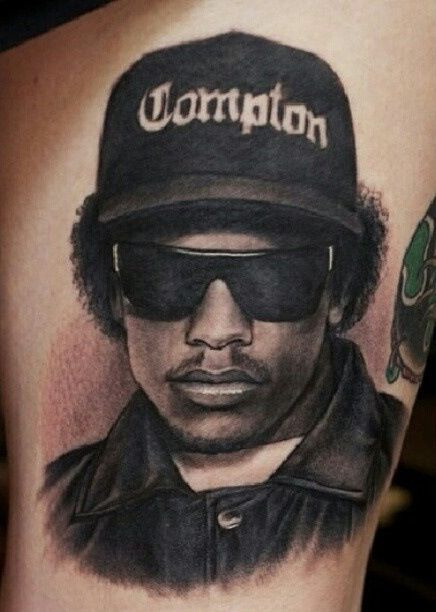 Eazy E 3 3 3 Hip Hop Tattoo Hop Tattoo Portrait Tattoo