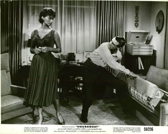 Sophia Loren with Cary Grant--''Houseboat''