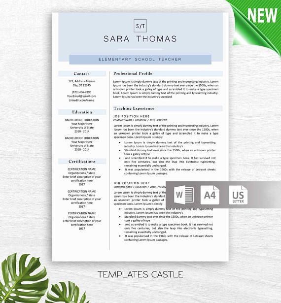 Instant Download Resume Template Word Professional Resume