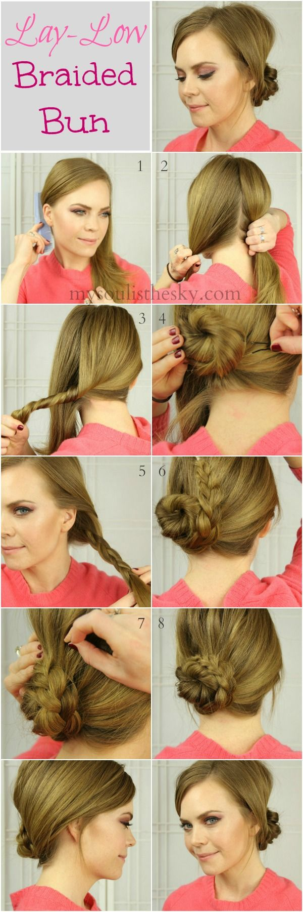 Easy Lay Low Braided Bun Hair Styles Holiday Hairstyles Long Hair Styles