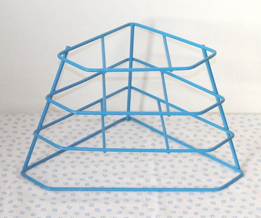 Vintage mid blue plastic coated corner plate rack stand 3 shelves 4 tiers  sc 1 st  Pinterest & Vintage mid blue plastic coated corner plate rack stand 3 shelves 4 ...