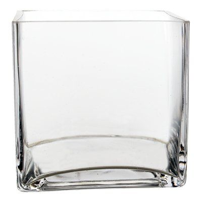 Amazon Bulk 6 Pieces 6 Clear Glass Square Vase 6 Pieces 57