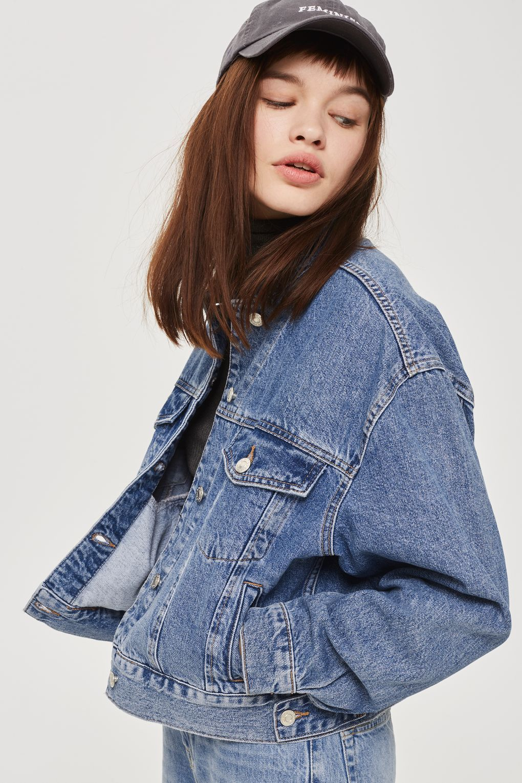 Petite Cropped Oversized Jacket Cropped Denim Denim Women Denim Jacket Women