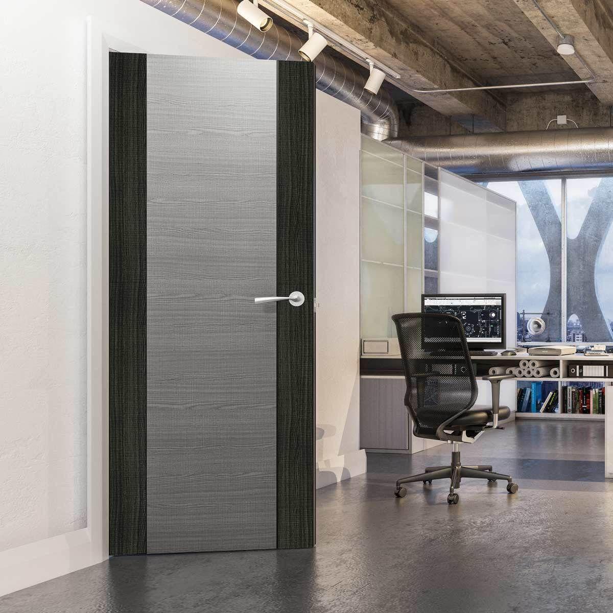 Bespoke Door Flush American Ash Veneer 60 Minute Fire Rated Prefinished Officedoor Firedoor Habitacion Puertas